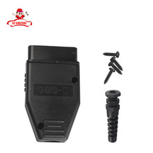 Factory Price! High Quality Universal 16Pin 16 pin EOBD2 OBDii OBD II OBD2 J1962 Connector Male Plug Adapter 1 Piece(China (Mainland))