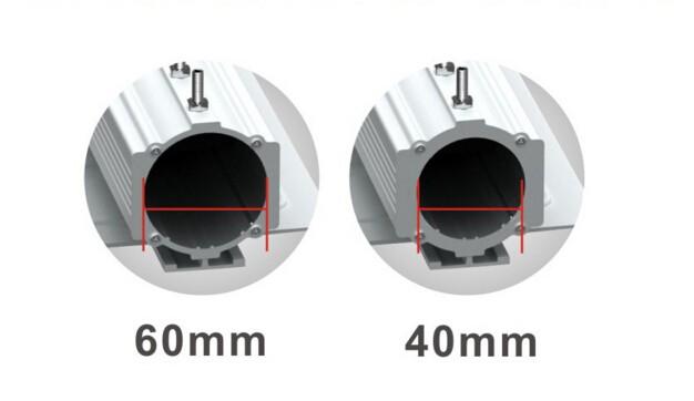 40mm 60mm light pole option