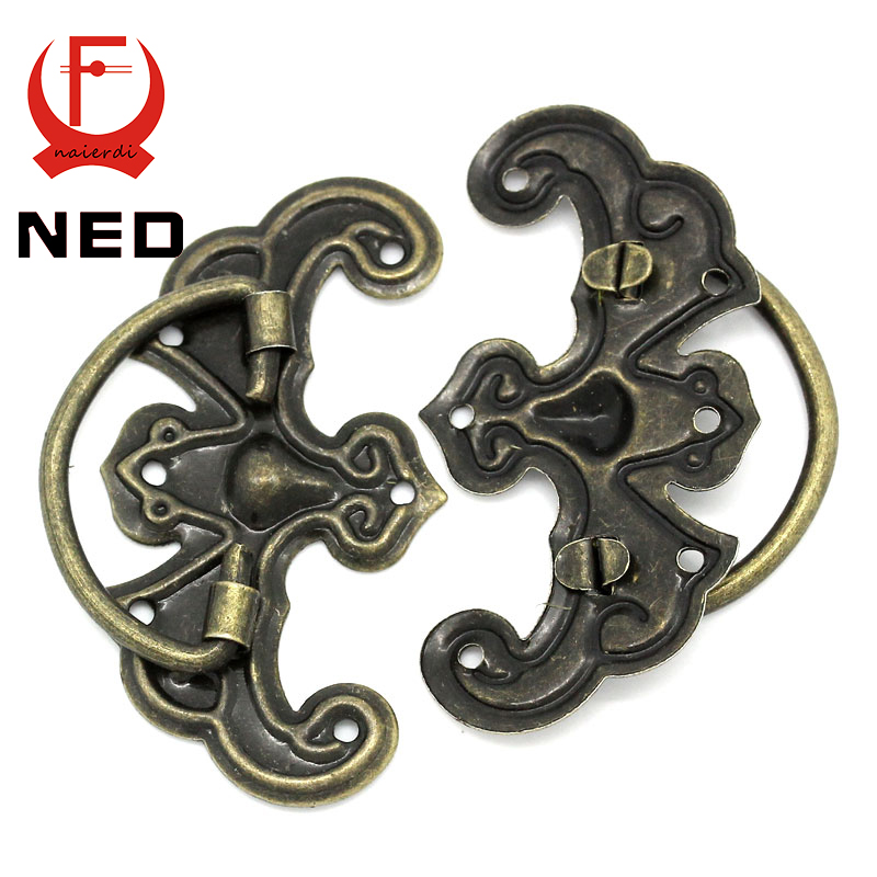 NED 10pcs Classical Bronze Tone Pattern Drawer Cabinet Desk Door Jewelry Box Pulls Handle Knobs Two Size With Furniture Hardware<br><br>Aliexpress