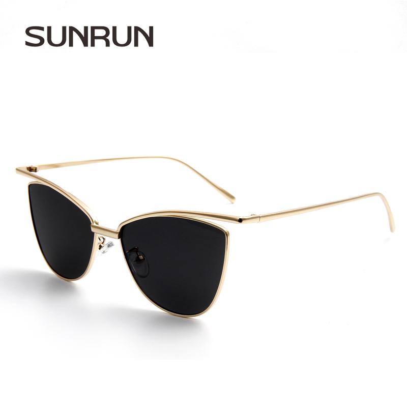 Glasses Frame Coating : SUNRUN Women Sunglasses Cat Eye Brand Designer Metal Frame ...