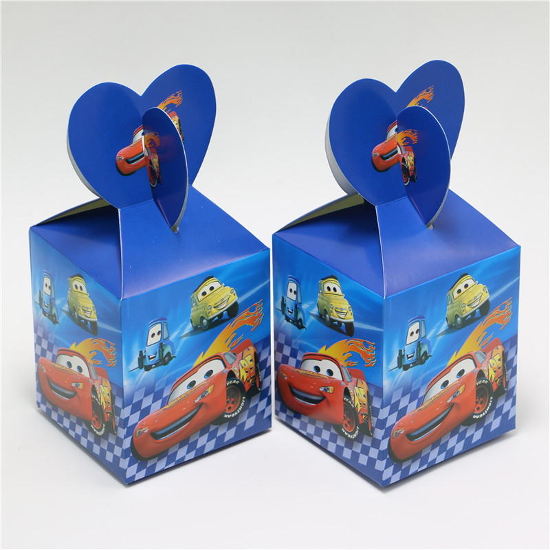 6PCS Car Toy Supplies Paper Bags Baby Shower Souvenirs Gift Box Favor Candy Kids Boys Birthday Party Decorations Event & Party(China (Mainland))