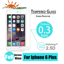 """For 6 6S 4.7"""" For iPhone 6 6S Plus 5.5″ Premium Full Coverage Tempered Glass Screen Protector Film Guard Cover – White/Black"""