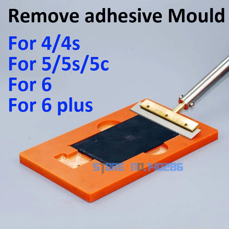 4pcs/lot cellphone LCD remove adhesive UV glue mould holder OCA Mold remove Polarizing film for iphone 4 4s 5 5s 6 6plus(China (Mainland))