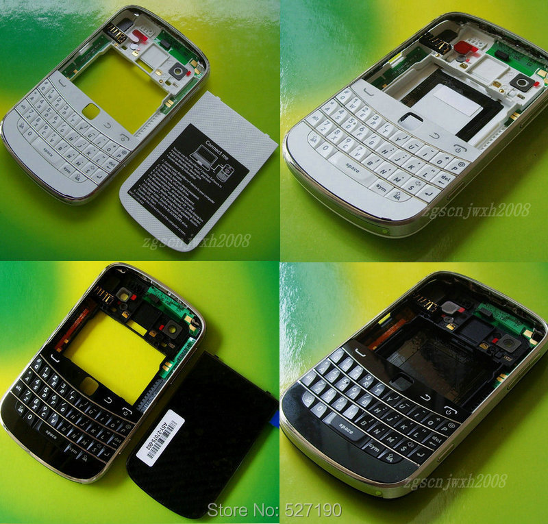 Original Full Housing Cover Case Cover Battery Back Boor Keypad With Logo For Blackberry Bold 9900 9930 +Free Tools(China (Mainland))
