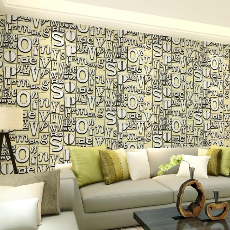 Living Room 6 Letters Of Wallpaper Waterproof Picture More Detailed Picture About