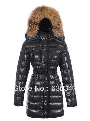 Hot Brand fashion designer womens Armoise long 33 Parka jacket coat Hooded dispatchable big real raccoon fur Windproof warm - Crise Lin's store