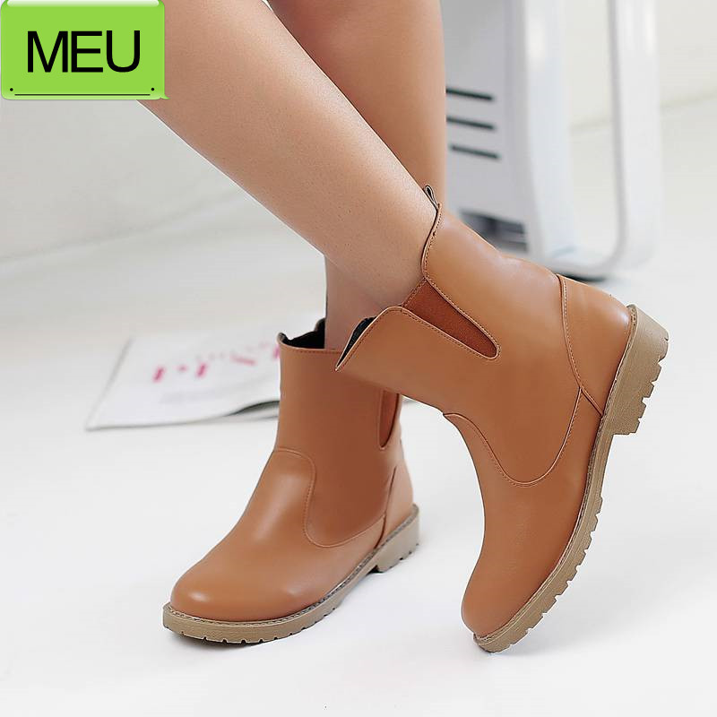 Big Size34-42 2015 New Fashion Women Designer Flats Shoes Casual Lady Riding Boots Winter Women's Snow Boots SBT1654(China (Mainland))