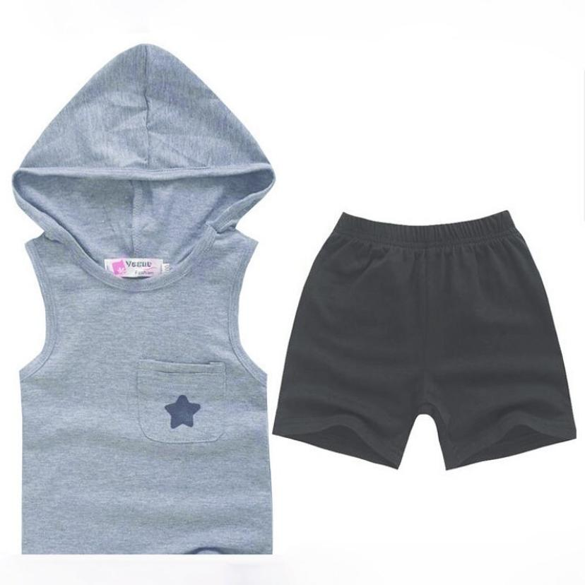Summer Five-star Hoodie Cotton Baby clothes Tops+Pants Outfits Set Clothing Suit All for Kids Clothing and accessories for 1-6Y(China (Mainland))