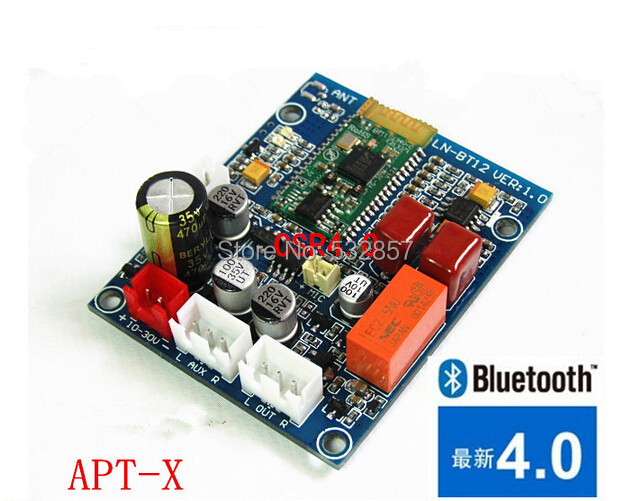 Гаджет  New arrival 2015 CSR4.0 8645 bluetooth audio speaker receiver board nondestructive HiFi stereo audio module free shipping None Электронные компоненты и материалы