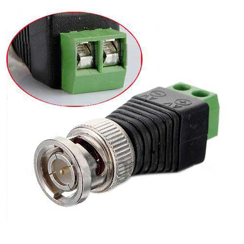 5x 2 X CAT5 To Coax Coaxial Camera CCTV BNC TV Video Balun Cable Connector Adapter(China (Mainland))