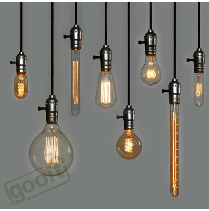 Retro Incandescent Vintage Light Bulb ST64 T45 DIY Handmade Edison Bulb Fixtures,E27/220V/40W lamp Bulbs For Pendant Lamps(China (Mainland))