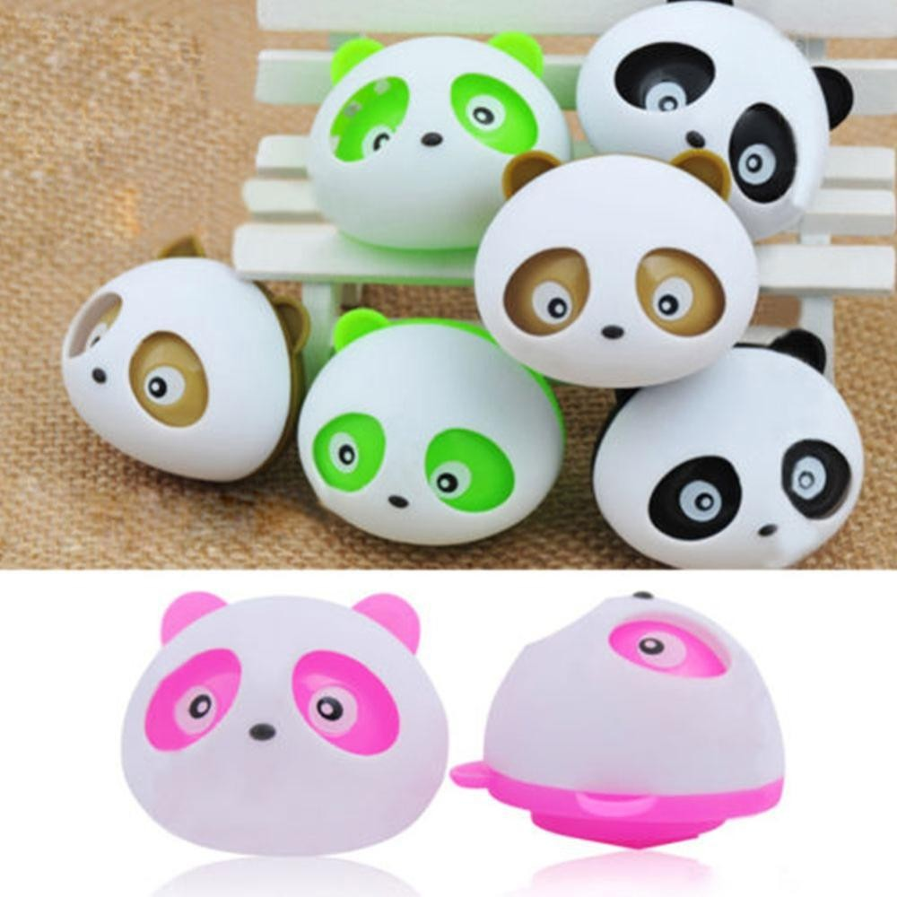 Brand new universal Car Styling Air Freshener 1x Car Air Conditioning Vent Perfume Panda Eyes Will Jump 5 Color Parfume Hot Sale(China (Mainland))