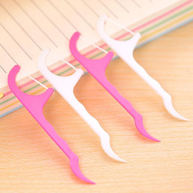 25 шт. оральный нить палочки стоматологическая воды нить ирригатор зубы зубочистки ...