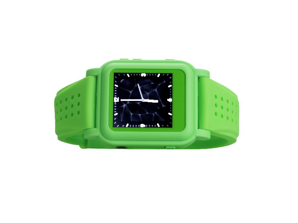 Free shipping wholesale green 8GB mp4 watches with 8GB memory(China (Mainland))