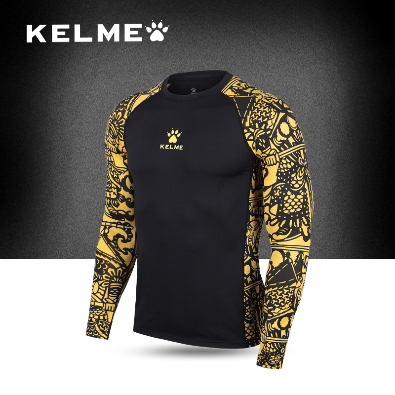 KELME Men's Football Jersey Competition Goalkeeper Training Tops Goalkeepers Clothes Quick-drying Breathable Long-sleeved Suit(China (Mainland))