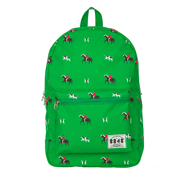 LMY7272 Cute Korean style double-Shoulder book Bags fashion girls women canvas Dots schoolbag middle school students backpacks(China (Mainland))