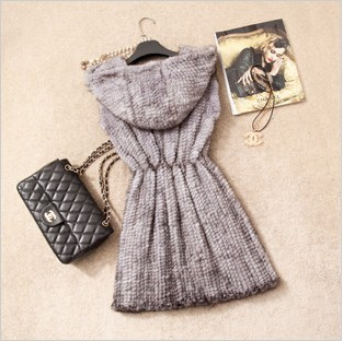 2013Luxury  hooded genuine mink fur vest,knitted  Free shipping,WHolesale Price,5 colors,womens winter warm coatОдежда и ак�е��уары<br><br><br>Aliexpress