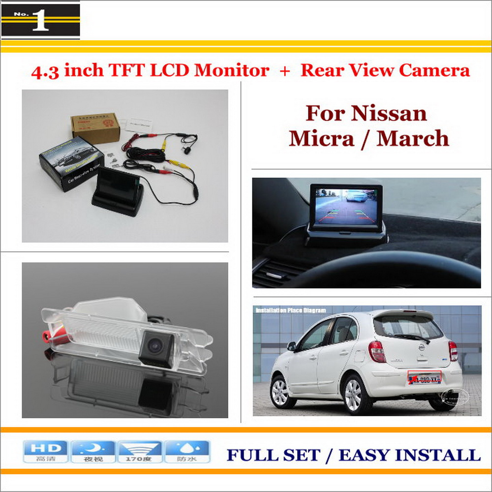 Car Rearview Camera + 4.3 LCD Screen Monitor = 2 in 1 Parking Assistance System - For Nissan Micra / March<br><br>Aliexpress