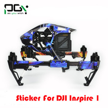 PGY DJI Inspire 1 Sticker Fuselage Remote control Battery Machine arm Personalized sticker For Inspire 1 Drone Free Shipping