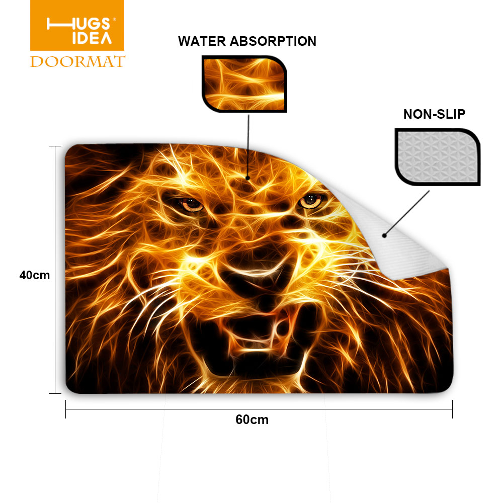 Non Slip Rugs For Kitchen Fur Carpet Picture More Detailed Picture About Hugsidea 3d Tiger