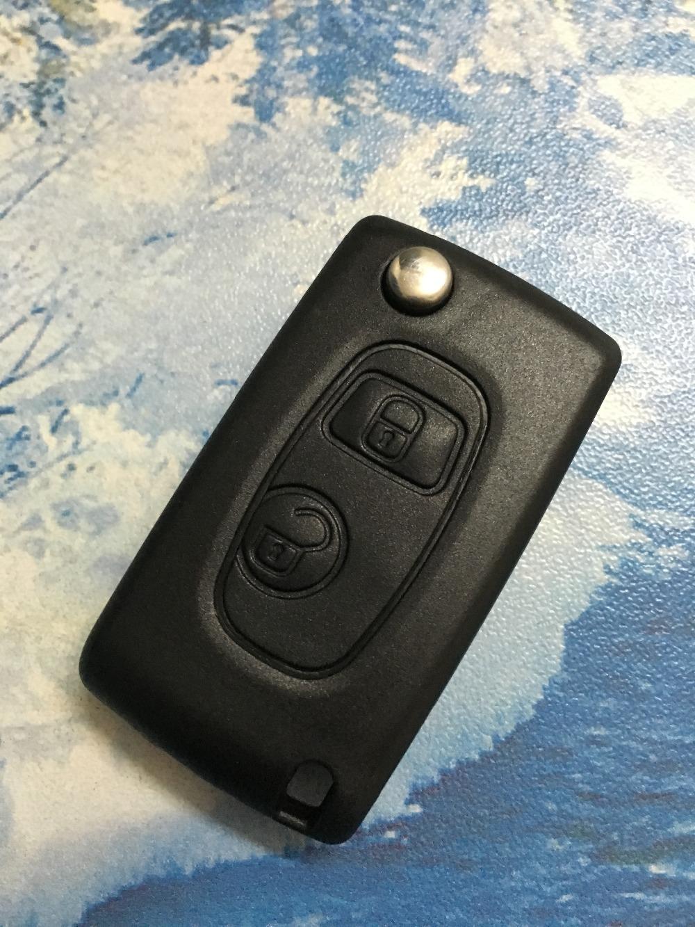 100% working free shipping 2 Buttons Modified Flip Remote Key Shell HU83 for Citroen