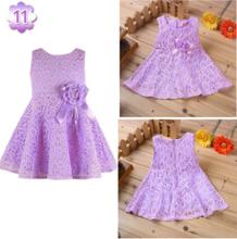 2014 summer new girls dress/Elegant princess dress with flower/Fashion lace dress(China (Mainland))