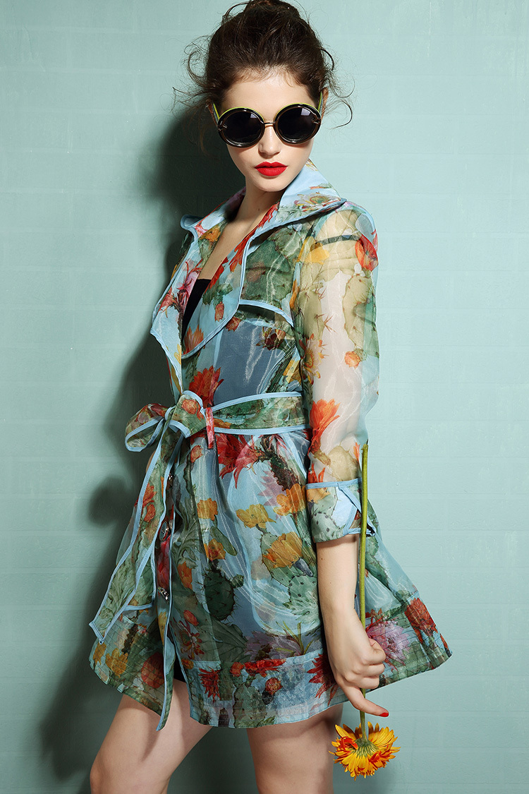 Silk organza long coat/New 2013 fashion novelty style/With sashes/3 colorsОдежда и ак�е��уары<br><br><br>Aliexpress