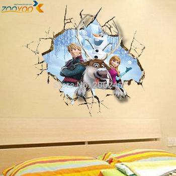 through wall stickers for kids rooms home decorations movie decal popular cartoon bedroom decor diy high quality art zooyoo1421