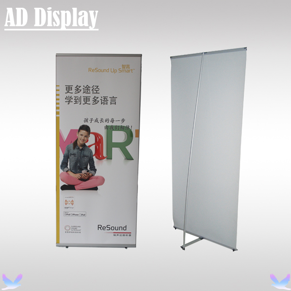 Wholesale 10PCS 80*180cm High Quality Exhibition Aluminum L Banner Display Stand,Portable Trade Show Booth Advertising Equipment(China (Mainland))