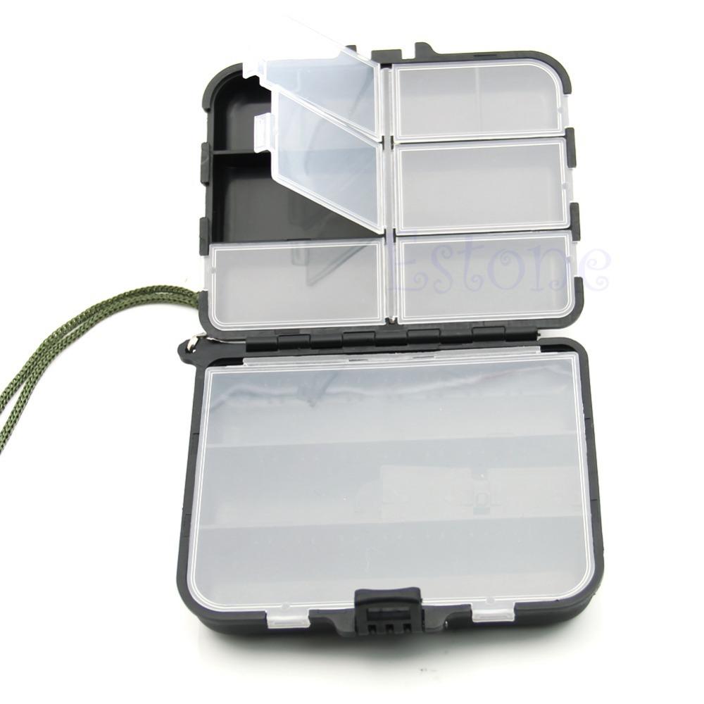 Portable Fishing Lure Spoon Hook Box Crankbait Bait Tackle Plastic Storage Case(China (Mainland))