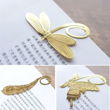10 pcs/Lot Gold book marker Golden metal bookmarks Vintage tab for books Stationery office accessories School supplies 6840(China (Mainland))