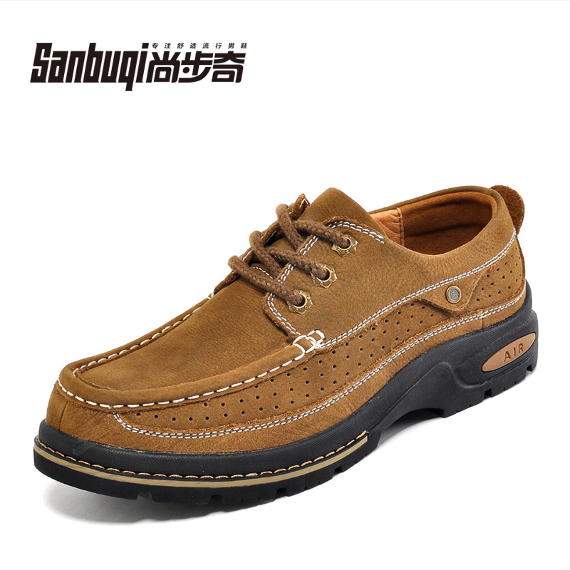 Autumn popular genuine leather shoes first layer of cowhide male casual shoes nubuck fashion big head leather