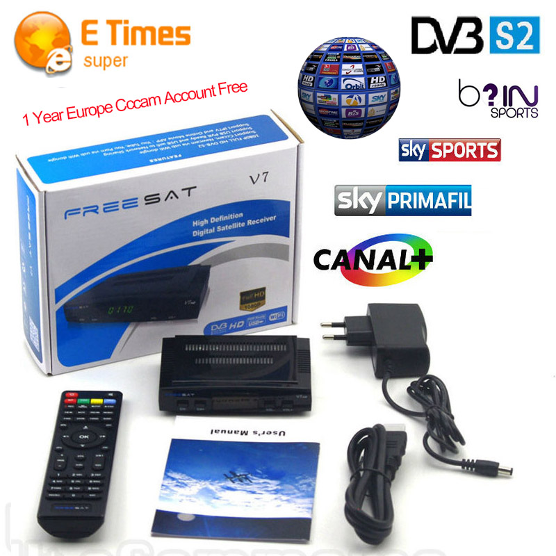 cccam europe 1 year spain DVB tuner satellite receiver freesat v7 hd support DVB S2 3G Cccamd Newcamd digital tv converter boxes(China (Mainland))