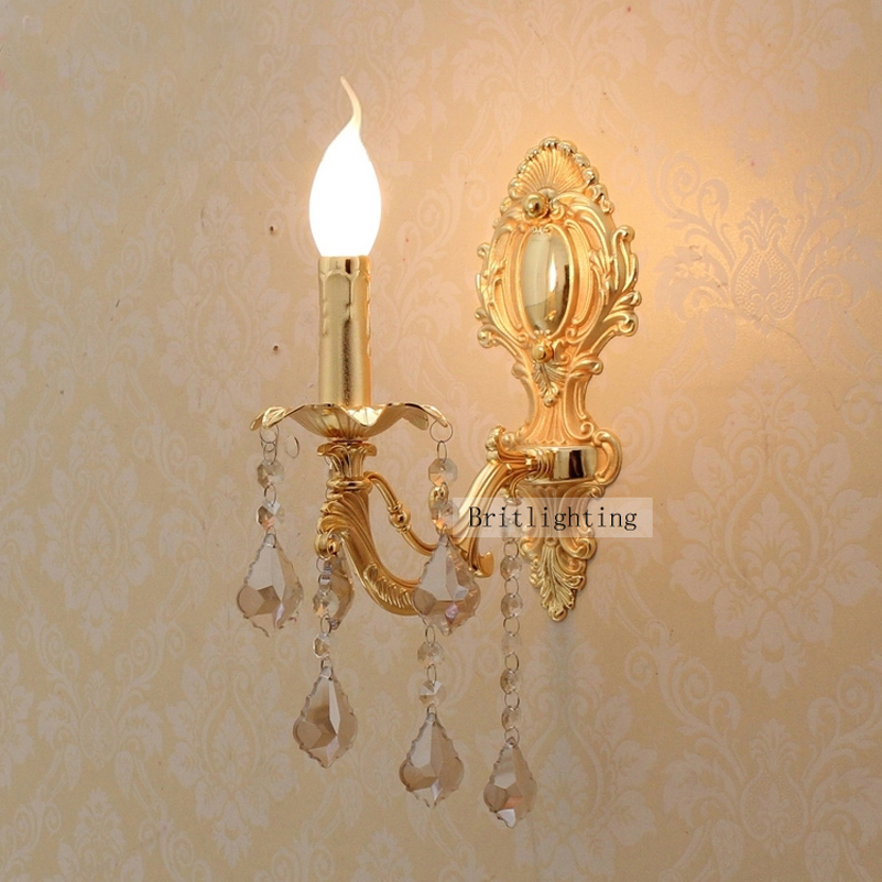 Indoor Candle Wall Sconces : led wall sconce crystal light home led wall lights decorative led indoor wall lamps european ...