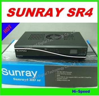 3pcs ! Free Shipping! Sunray 800 se SR4 Triple Tuner DVB-S/C/T 3 Tuner in 1 Sim2.10 with WIFI 400MHz HD Satellite Receiver