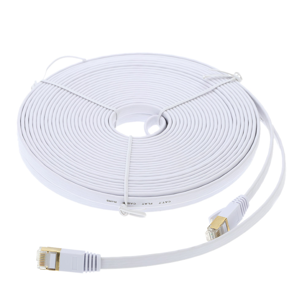 10m High Speed Cat7 SSTP RJ45 Network LAN Cable Internet Flat Network Cable High Quality with Plated Connector(China (Mainland))