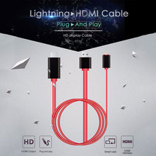 Buy 8 Pin Lightning HDMI HDTV TV Adapter USB Cable 1080P iPad Air Air2 iPhone 7 7 Plus 6S 6 5 5S PLUG & PLAY IOS 10 for $11.65 in AliExpress store
