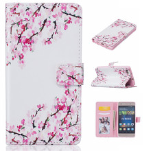 Retro printing Luxury Flip pu leather case for huawei P8 Lite Relief Leather Phone Case Holder Wallet case