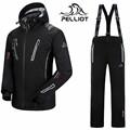 DHL FREE 2016 Pelliot brand ski suit men snowboard jacket pants men waterproof breathable thermal cotton