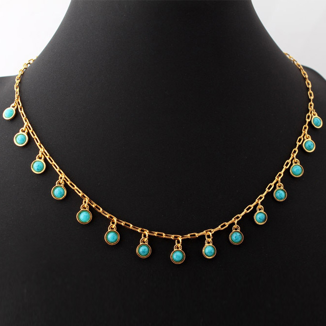 Turkish jewelry turquoise necklaces women fashion jewelry for Turquoise colored fashion jewelry