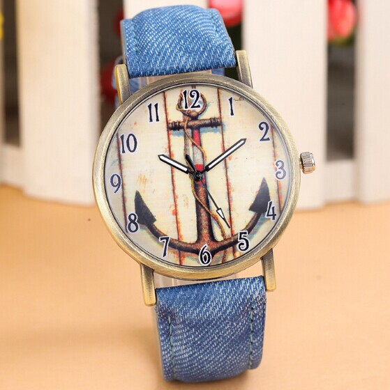 Brand Anchors Fashion Casual Quartz Watch Women Leather Strap Watches Relogio Feminino Clock Ladies Wristwatches Blue Hot - Shine Factory store