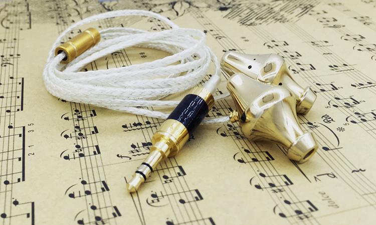 DIY earphone DIY earphone HIFI custom 12 cores Goddess line Deluxe Edition copper chamber pot Gold chamber pot