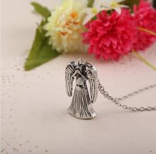 New Hot Sale Fashion Movie Jewelry Television Surrounding Weeping Angel Metal Alloy Pendant Necklace For Gift ZJ--0903070(China (Mainland))
