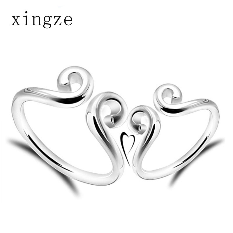 High quality silver plated couple rings creative magic spell couple rings opening fine jewelry one pair price wholesale(China (Mainland))
