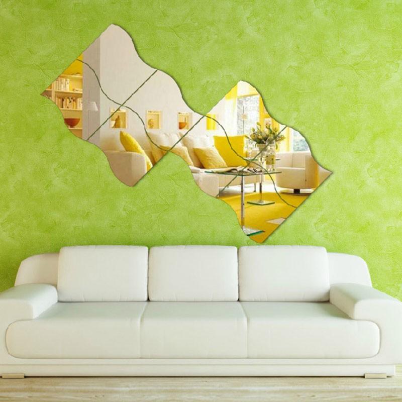 onda criativa projetado adesivos espelho adesivos de parede sala quarto art home decor. Black Bedroom Furniture Sets. Home Design Ideas