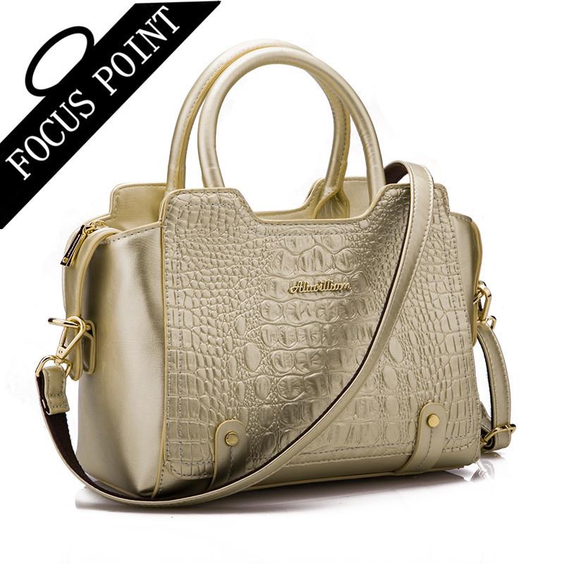 Best quality Women bag Handbags Tote Alligator bag Ladies leather brand Fashion Women Messenger Bags Shoulder Bag Clutch bolsas(China (Mainland))