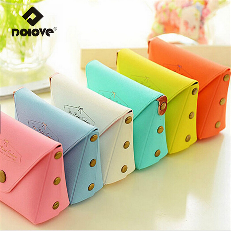 DOLOVE 2017 Cute Korean Women Bags Manufacturers Selling Candy Color Key Bag Cion Purse Macarons Wallet PVC Boxed Wholesale(China (Mainland))