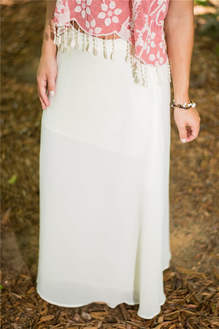 Новый 2015 весна лето осень мода долго шифон юбки женский конфеты цвет плиссированные макси женские юбки