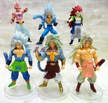 Anime Cartoon Dragon Ball Z Majin Buu Gotenks Saiyan Son Goku PVC Action Figures Collectible Toys 6pcs/set ADB080