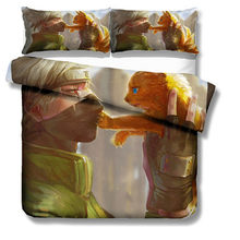 MUSOLEI 3D Bedding Set Anime Naruto Soft Bed Duvet Cover Set Twin Queen King Size(China)